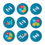 Hands insurance icons. Human life-assurance. Royalty Free Stock Photo