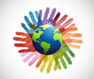 Hands international diversity colors Stock Photography
