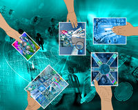 Hands of the Internet Stock Photo