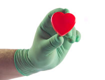 on hands isolated on white background heart care of health Royalty Free Stock Photos