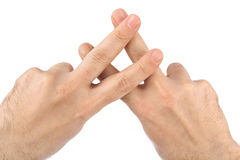 Hands jail gesture Royalty Free Stock Photos