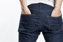 Hands in jeans pockets Royalty Free Stock Photo