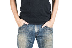 Hands in jeans pockets Stock Image