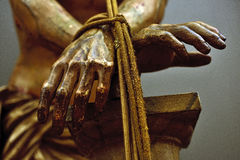 Hands of Jesus Christ. Flat of the hands of Jesus Christ Royalty Free Stock Photo