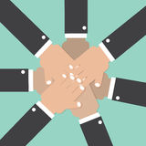 Hands Join Together Teamwork Spirit Conceptual Royalty Free Stock Images