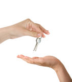 Hands and key Stock Image