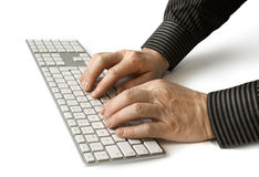 Hands on keyboard Stock Image