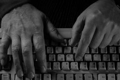 Hands on the keyboard Royalty Free Stock Images