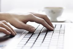 Hands on keyboard Royalty Free Stock Photos