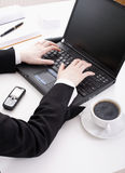 Hands on the keyboard Royalty Free Stock Photography