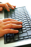 Hands on Keyboard royalty free stock images