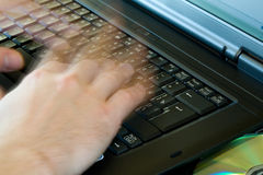 Hands on keyboard Royalty Free Stock Photo