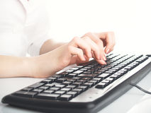 Hands and keyboard Royalty Free Stock Photo
