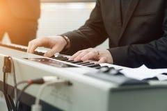Hands keyboard closeup Stock Photography