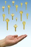 Hands and keys Stock Photography