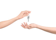 Hands with keys Royalty Free Stock Image