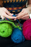 Hands Knitting Stock Photos