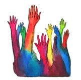 Hands krönar Fotografering för Bildbyråer