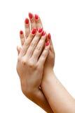 hands kvinnan Arkivbild