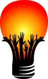 Hands lamp logo Stock Image