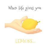 Hands Lemon Royalty Free Stock Images