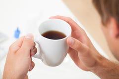 Hands Lemon Tea Cup Stock Image