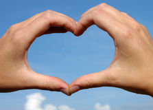 Hands like heart Stock Photos