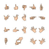 Hands, likes and fingers royalty free illustration