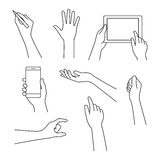 Hands line icon. Vector illustration for your startup. Stock Photo
