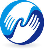 Hands logo Royalty Free Stock Photography