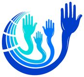 Hands logo Royalty Free Stock Photos