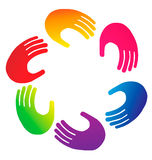 Hands logo Royalty Free Stock Photos