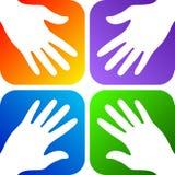 hands logo royaltyfri illustrationer