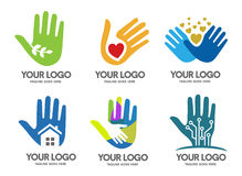 Hands logo. Concept, strong, minimalist and modern suitable for all business vector illustration