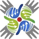 Hands logo Stock Photos