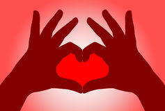 Hands love Stock Photography