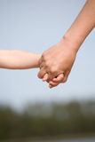 Hands of love Stock Images