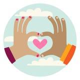 Hands love gesture Stock Photos