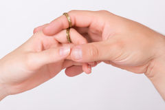 Hands in love Royalty Free Stock Image