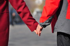 Hands of lovers Royalty Free Stock Images