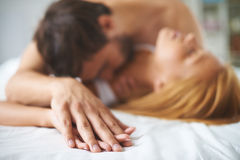 Hands of lovers Royalty Free Stock Photo