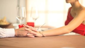 The hands of lovers Royalty Free Stock Images