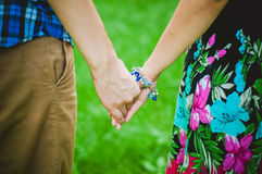 Hands of lovers Stock Image