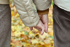 Hands of a loving couple Stock Images
