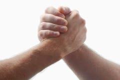 hands män två som brottas Fotografering för Bildbyråer