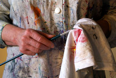 hands målare s fotografering för bildbyråer