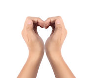 Hands made in the form of heart Stock Image
