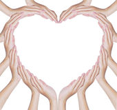 Hands make heart shape Stock Photos