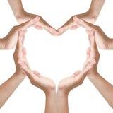 Hands make heart shape Stock Image
