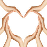 Hands make heart shape Stock Image